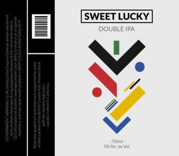 Modernist Beer Label Design Template 767