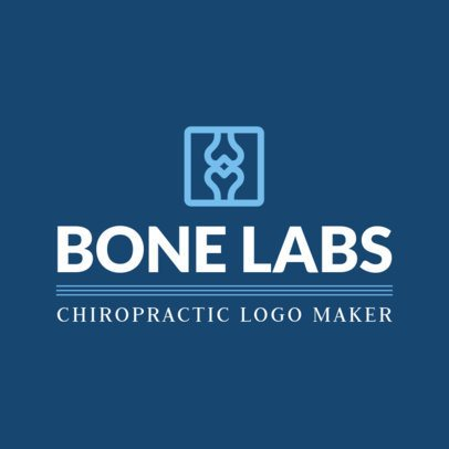 Medical Logo Maker for a Chiropractic Clinic 1494e