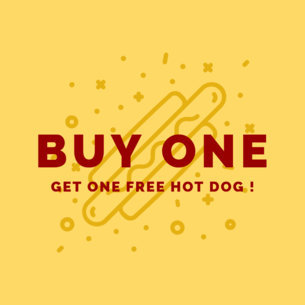 Ad Banner Maker for a Hot Dog Promo 744d