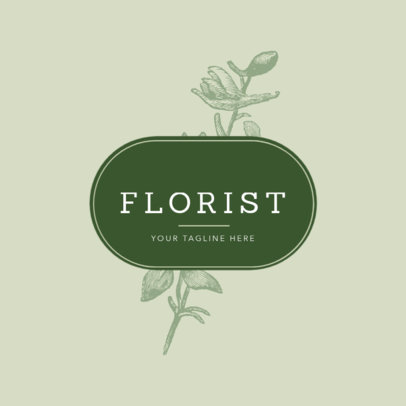 Online Logo Maker for a Flower Shop 1270a