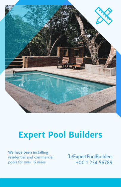 Flyer Maker for Pool Builders 733d