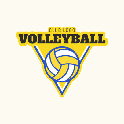 placeit volleyball team logo template