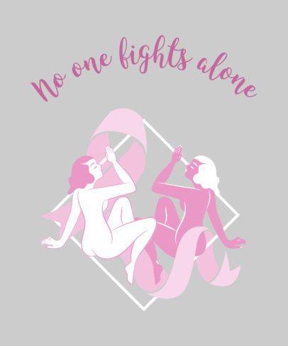Creative Breast Cancer Tshirt Design Maker 738c