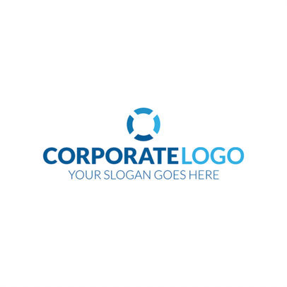 Blue Corporate Logo Design Template 1518