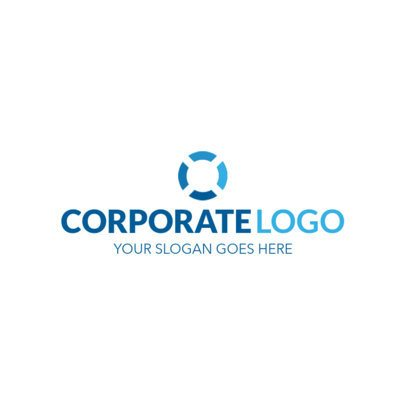 Blue Corporate Logo Design Template 1518