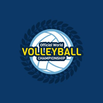 Volleyball Logo Template for a Volleyball Team 1512