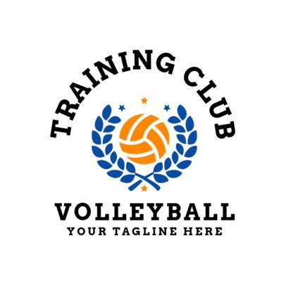 Sports Logo Maker for a Volleyball Team 1510