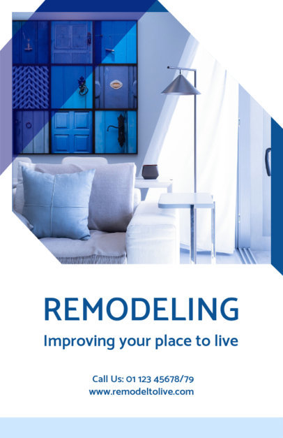 Online Flyer Maker for a Home Remodeling Company 733a