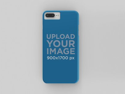 Mockup of a Phone Case over a Solid Surface 23156