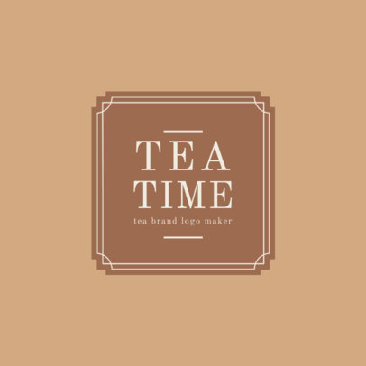 Tea Brand Logo Maker 1345b