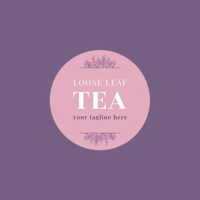 Loose Leaf Tea Shop Logo Template 1345c