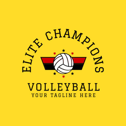 Volleyball Logo Creator 1510b
