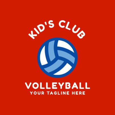 Kids Volleyball Logo Maker 1510d