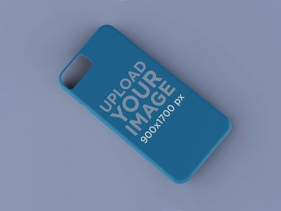 Mockup of a Phone Case Diagonally Placed on a Custom Background 23145