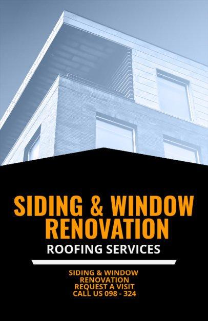 Siding and Window Renovation Flyer Maker 708d
