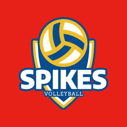 Volleyball Team Logo Template 1513a