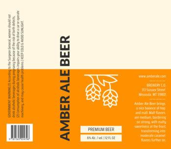 placeit modern beer label design template
