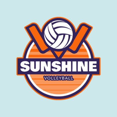 Volleyball Club Logo Design Template 1499d