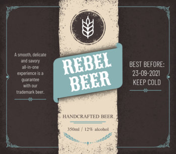 Beer Label Template 759a