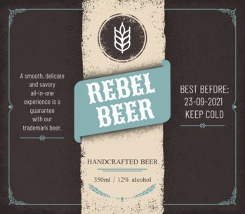 Beer Label Template 759a-1819
