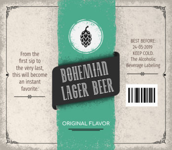 Custom Beer Labels Template for Bohemian Lager Beer 759d