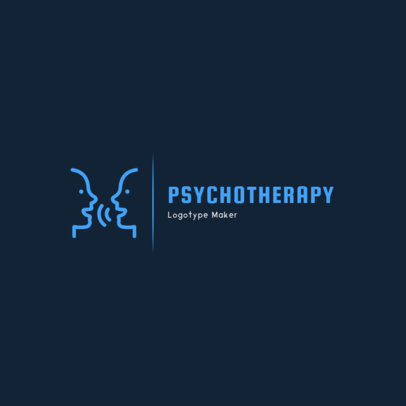 Simple Psychologist Logo Design Creator 1523d