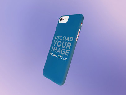 Phone Case Mockup with a Gradient Background 23152