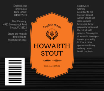Stout Craft Beer Labels Template 760d