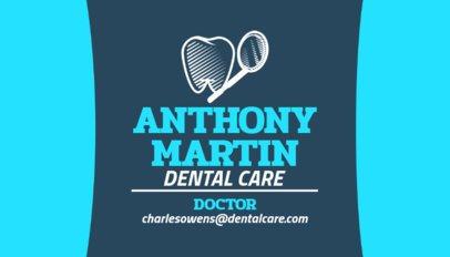 Medical Business Card Maker for Dentists 558b