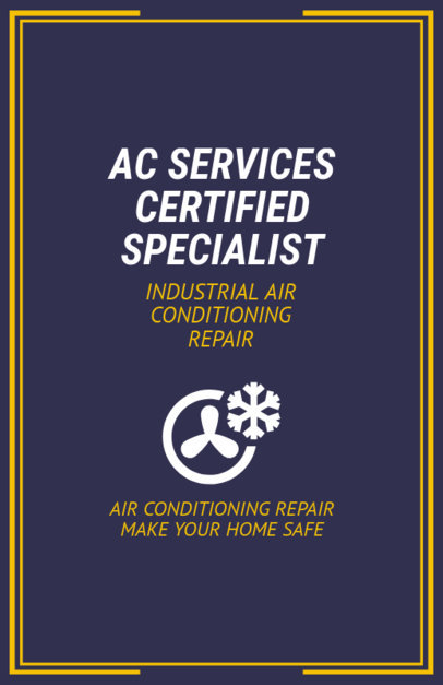 AC Services Specialist Flyer Design Template 730c