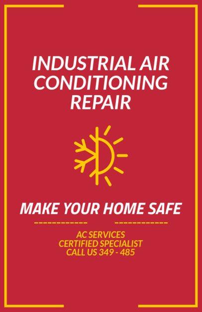 Home AC Repair Company Flyer Maker 730e