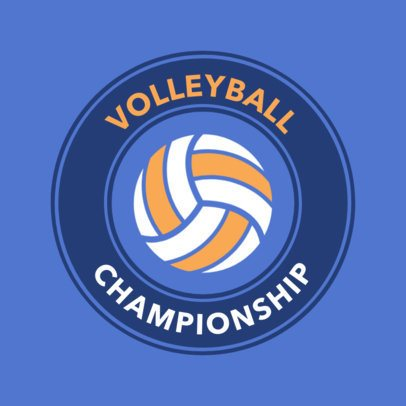 Sports Logo Maker to Create a Volleyball Team Logo 1511