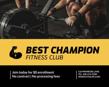 Vinyl Banner Design Template for Fitness Clubs 791