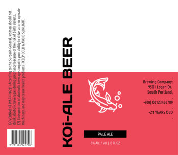 Modern Beer Label Design Template 758c