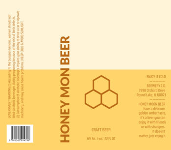 Beer Label Template with a Honeycomb Icon 758d