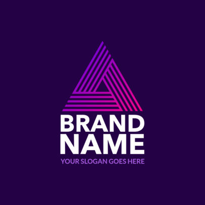 Brand Logo Maker with Abstract Graphics 1519a