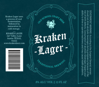 Craft Beer Label Template 766a