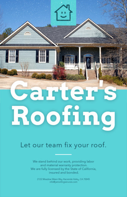 Flyer Maker for Roofing Services 739b-1819