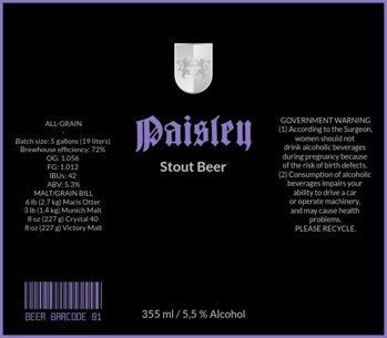 Stout Beer Label Design Template 772d