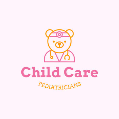 Pediatric Logo Maker with Teddy Bear Graphics 1535b