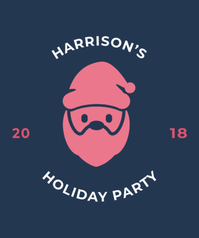 Christmas Tee Design Template for Holiday Parties 831