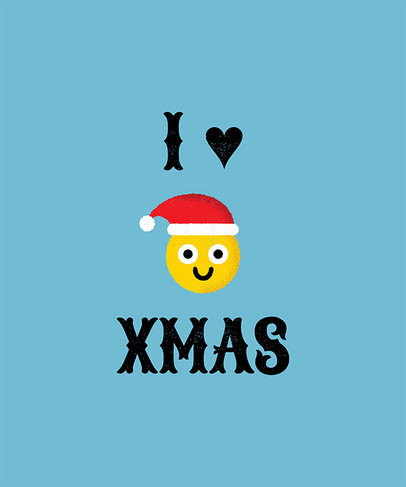 Emoji Christmas T-Shirt Design Creator 824