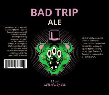 Beer Label Template with Funky Graphics 771