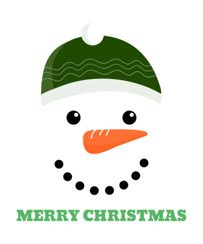 Christmas Tee Design Template Featuring Snowman Clipart  826
