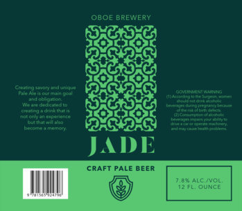 Craft Beer Label Maker with a Pattern Design 773d