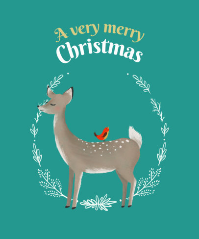 Jolly Christmas T-Shirt Design Generator 827