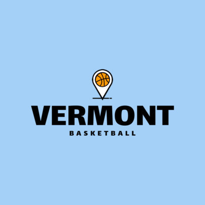 Basketball Team Logo Template 1498c