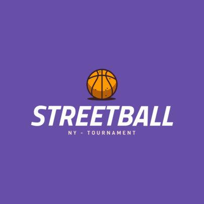 Street Basketball Logo Maker 1498e