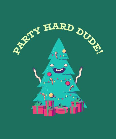 Christmas T-Shirt Design Maker with Festive Xmas Tree 836d