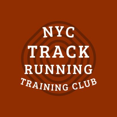 Track Running Club Logo Maker 1542b
